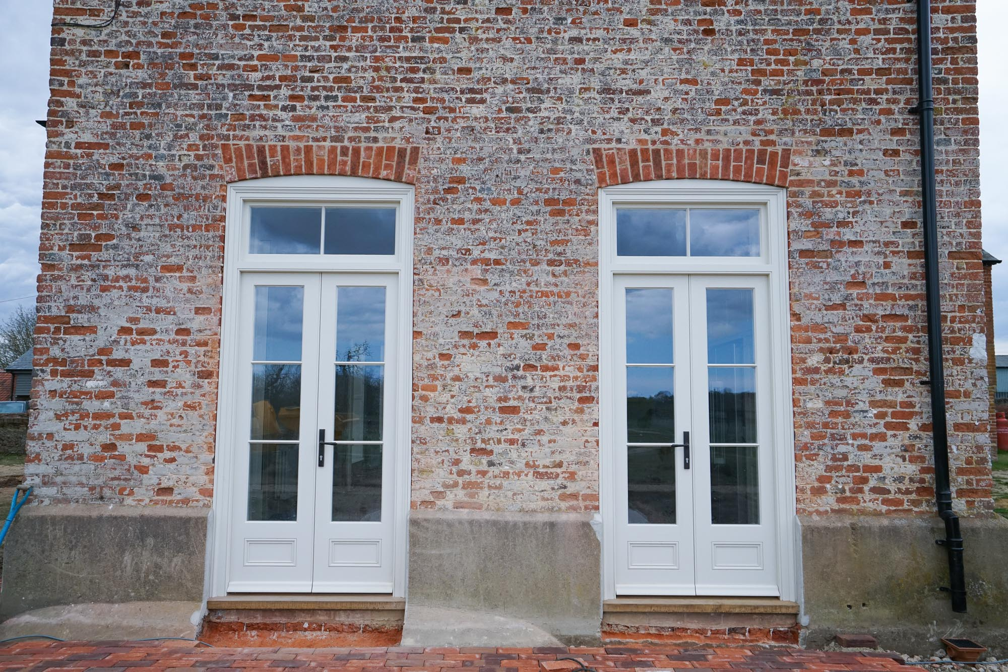 Wooden French Doors painted