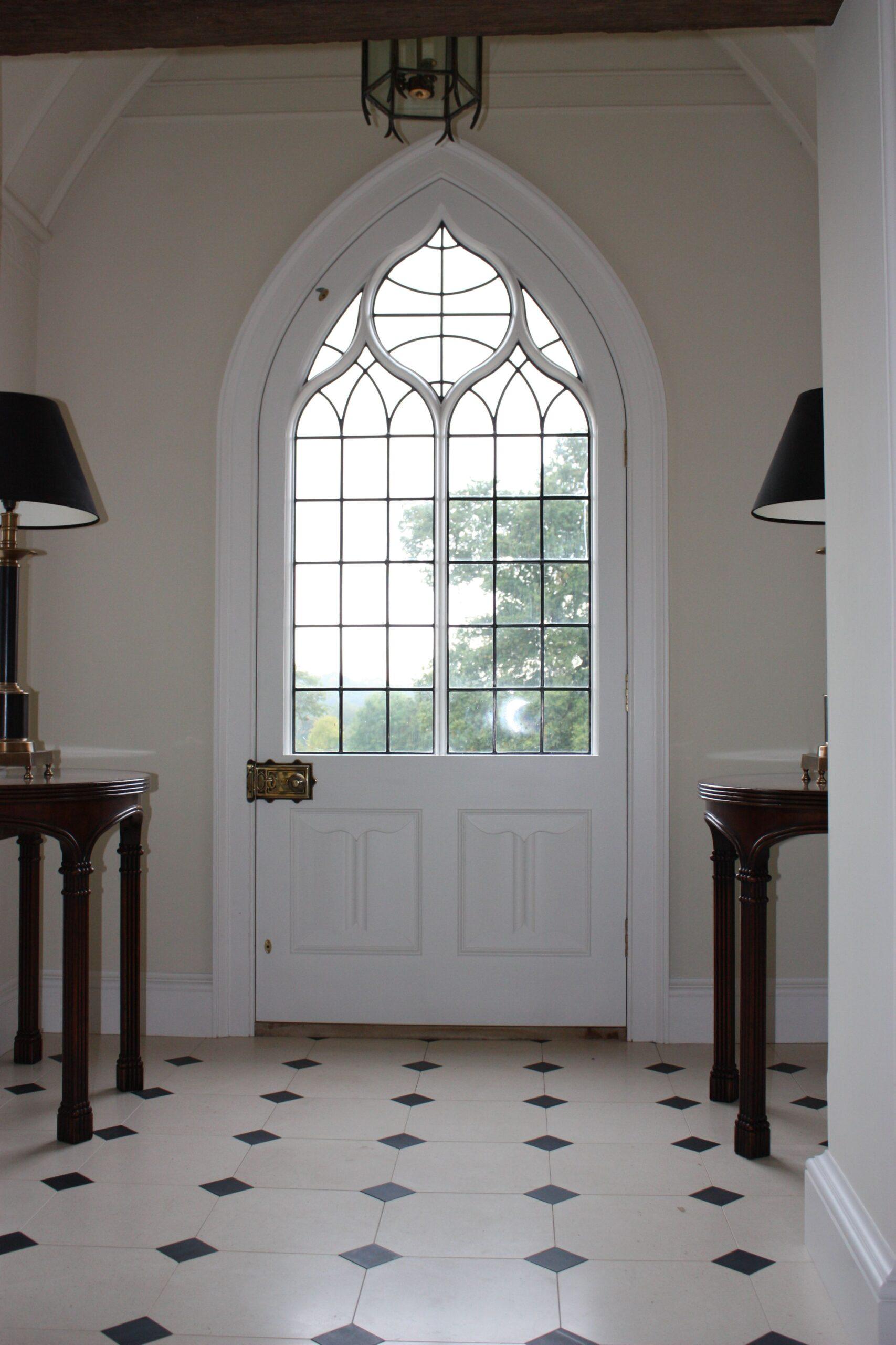 Leaded Gothic Front Door