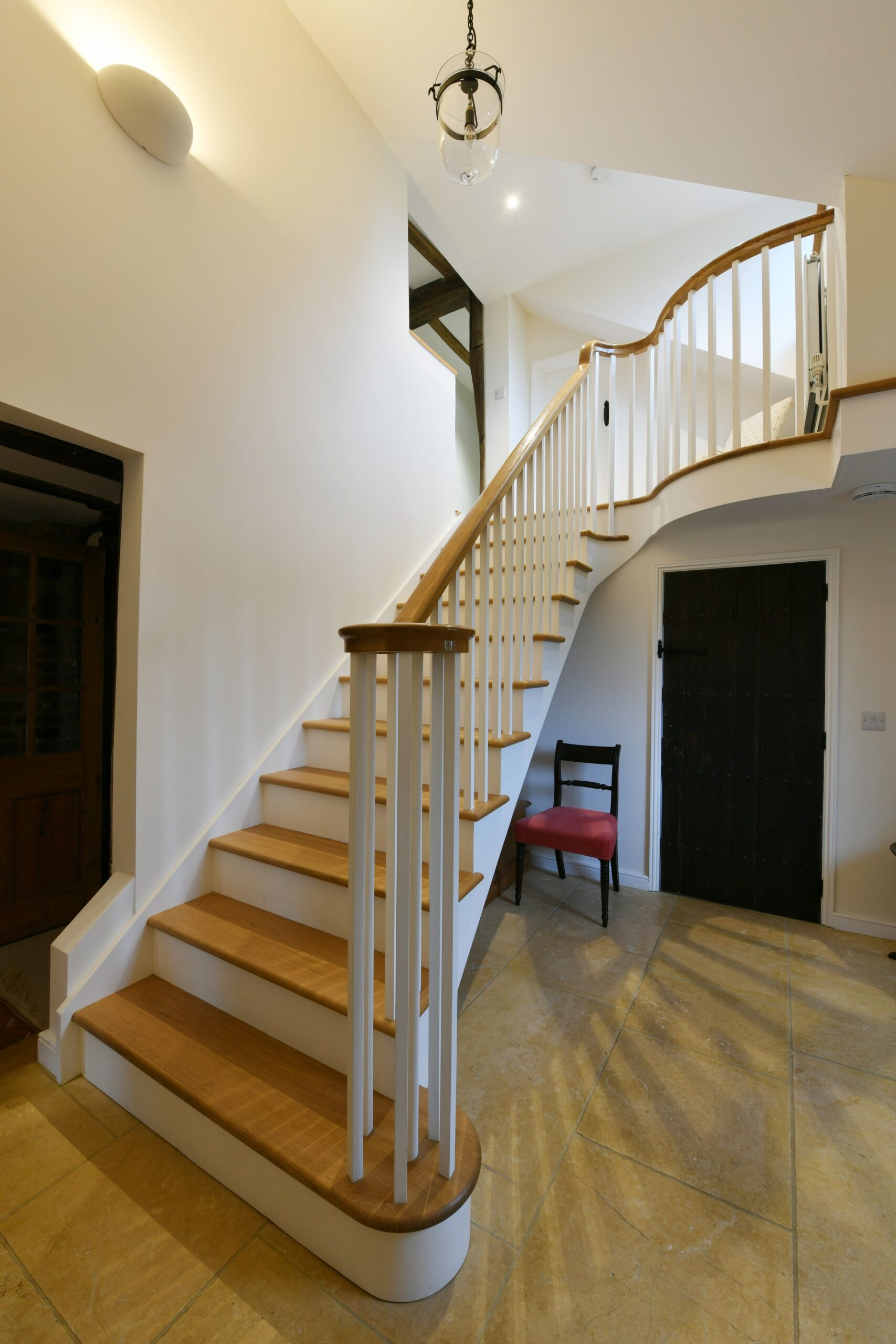 Grand staircase with spindles