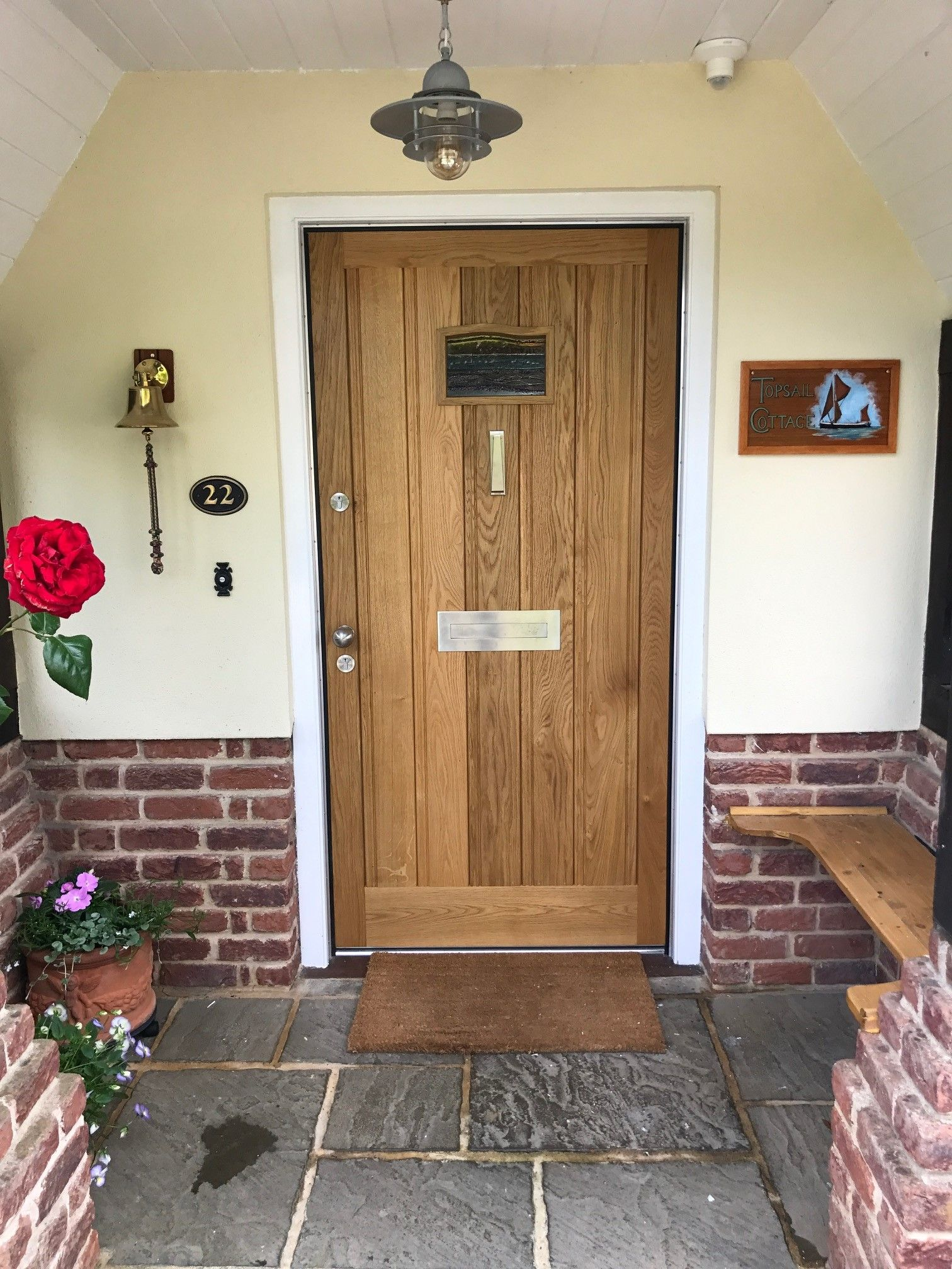 Wooden Handcrafted Front Door